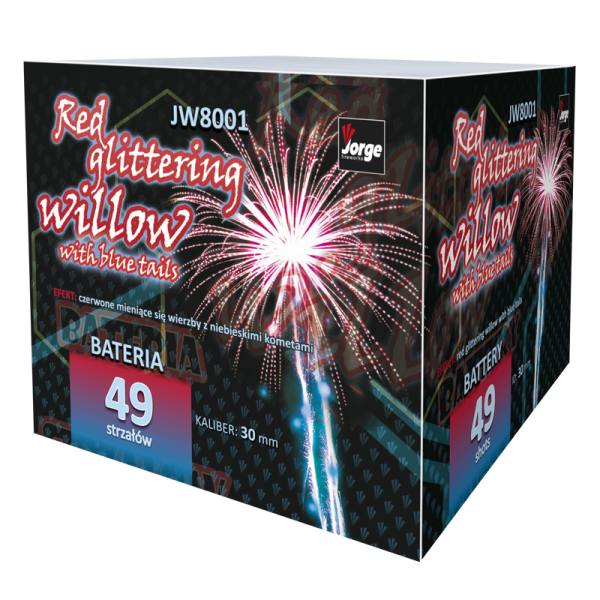 JW8001 RED GLITTERING WILLOW